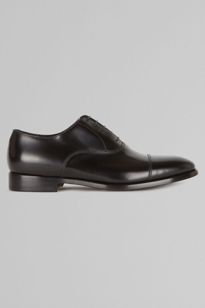 Chaussures Richelieu En Cuir Lisse, Noir, hi-res