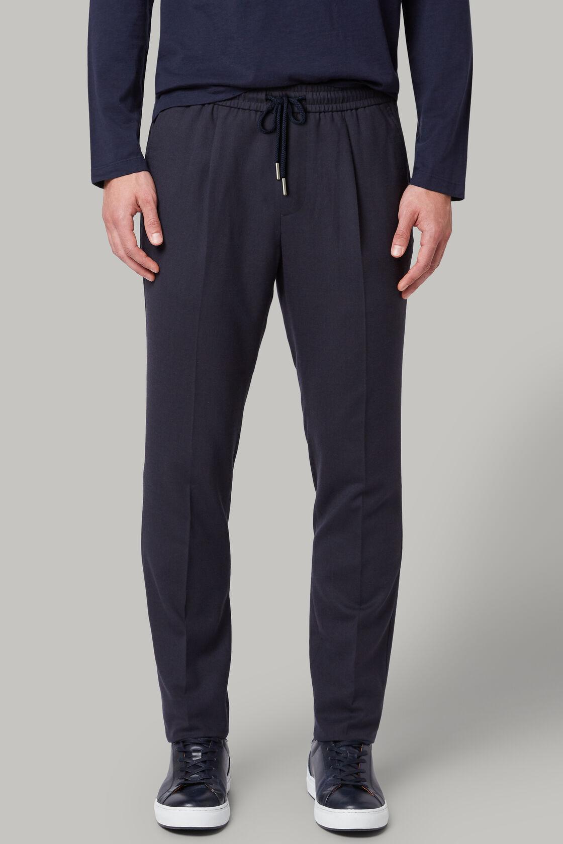 Pantaloni in lana washable regular fit, Navy, hi-res