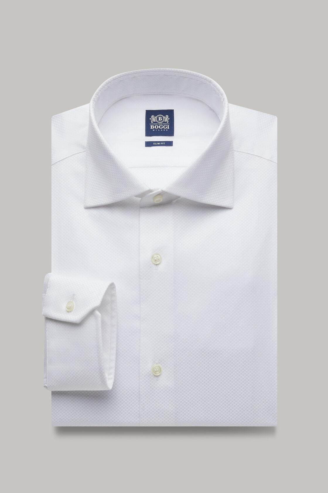 Weisses hemd  mit windsor kragen aus baumwolle slim fit, , hi-res