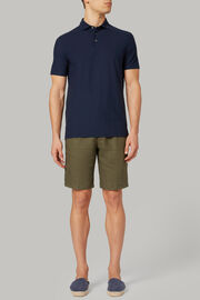 Polo in jersey di cotone crepe regular fit, Navy, hi-res