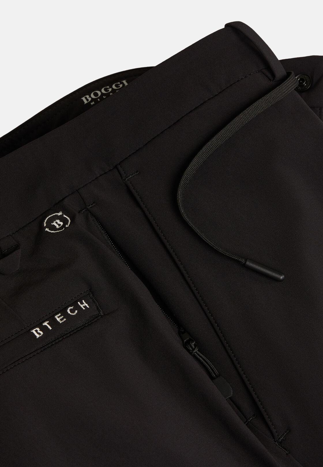 Hose aus elastischem recyceltem nylon b tech, Schwarz, hi-res