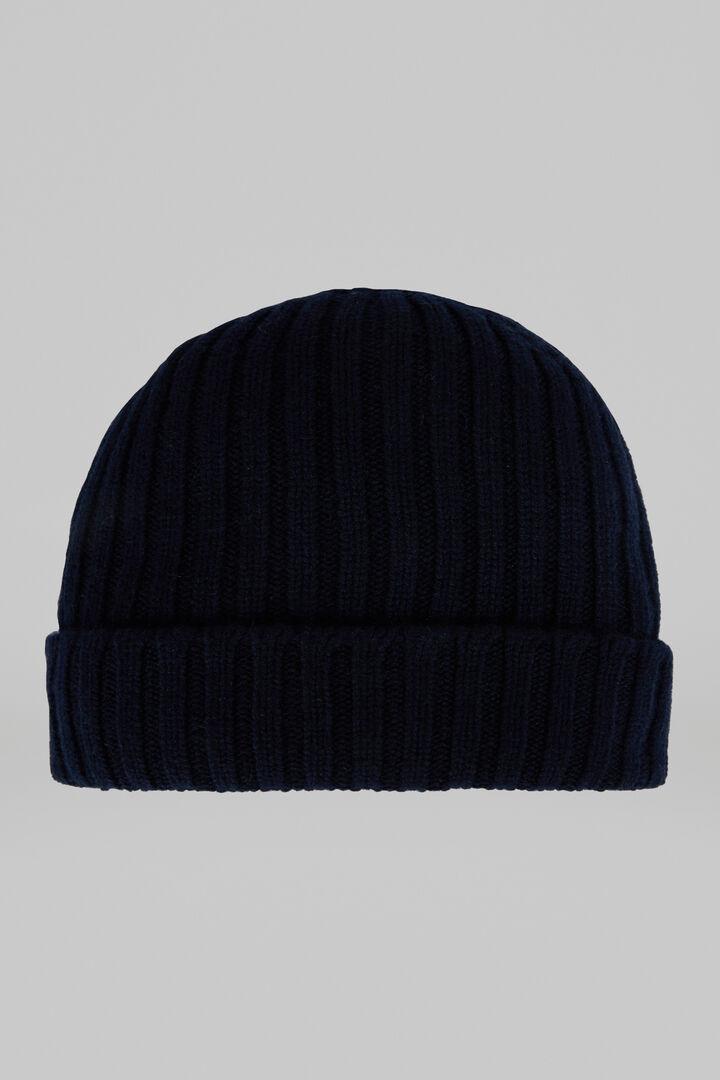 Bonnet En Pur Cachemire Côtelé, bleu marin, hi-res