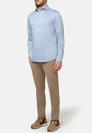 Polohemd aus japanischem jersey regular fit, Hellblau, hi-res