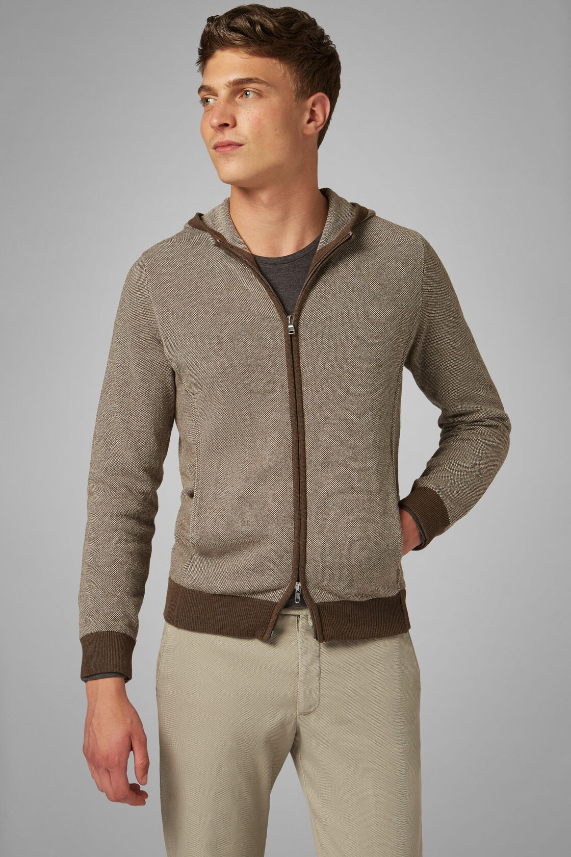 Cashmere Blend Full Zip Jumper