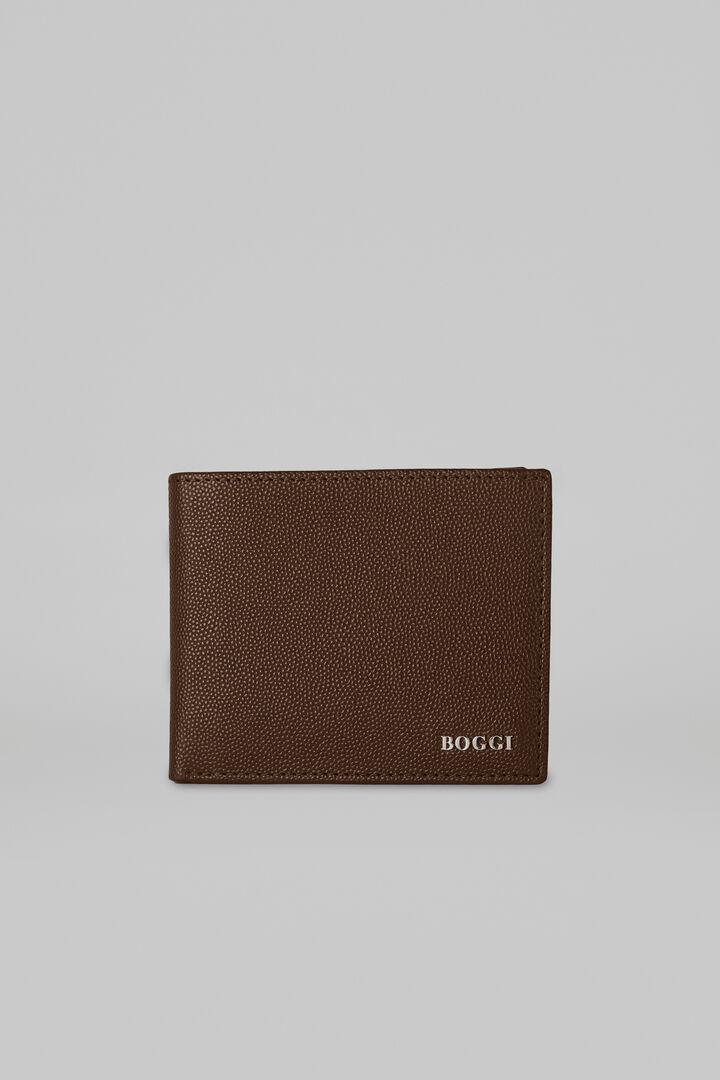 8 Slot Caviar Leather Wallet, Dark brown, hi-res