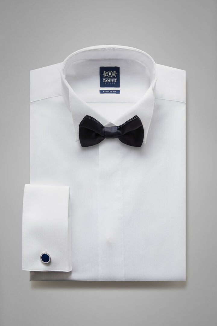 Regular Fit White Shirt With Wing Collar, White, hi-res