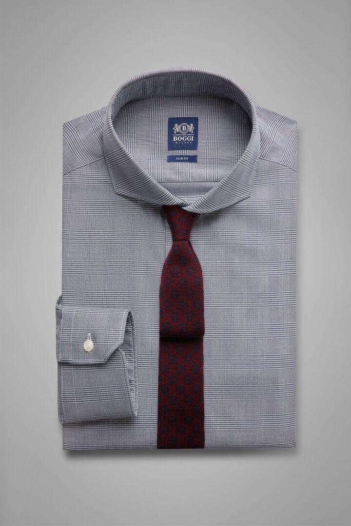Camicia Galles Navy-Blu Collo Napoli Slim Fit, Blu - Bluette, hi-res
