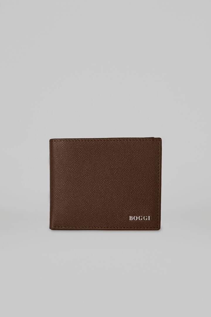 8 Slot Caviar Leather Wallet, Dark brown, hi-res