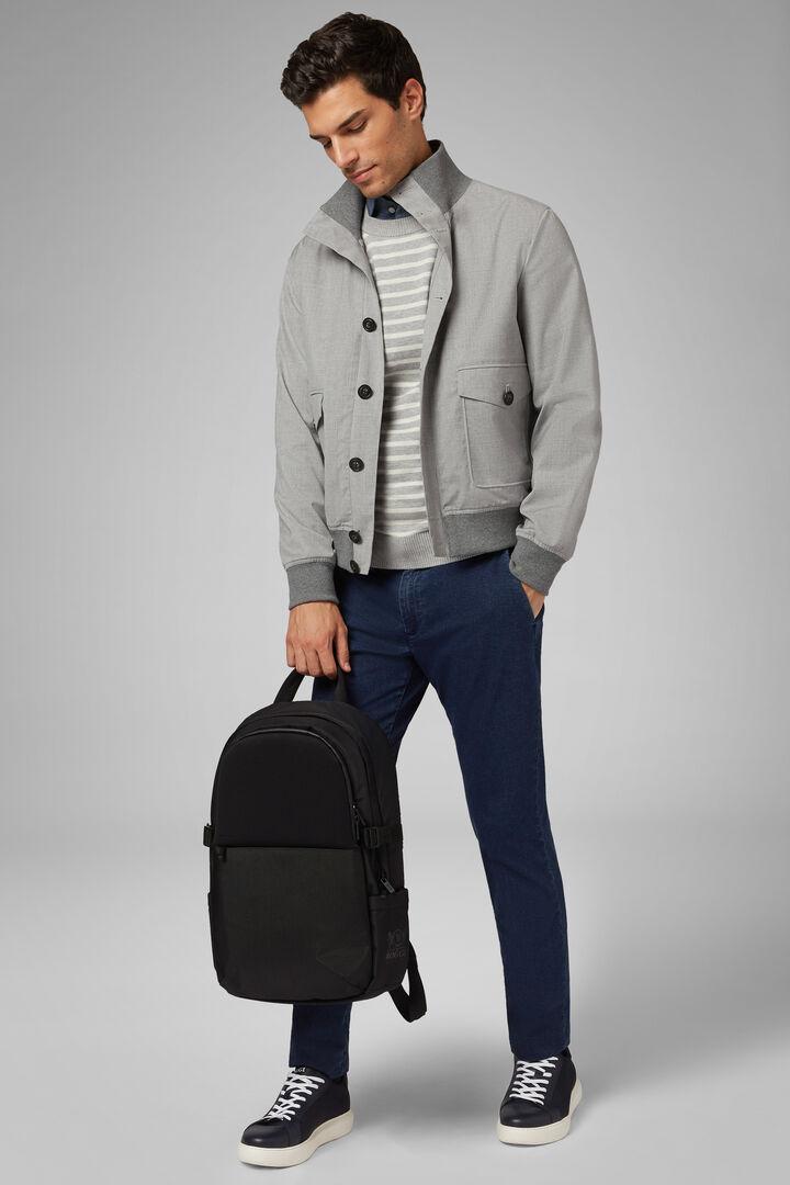 Waterproof Wool Bomber Jacket, Grey, hi-res