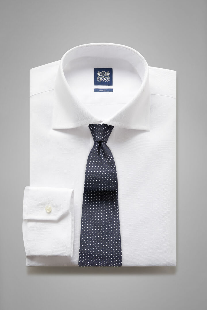 Camicia Bianca Collo Windsor Slim Fit, Bianco, hi-res