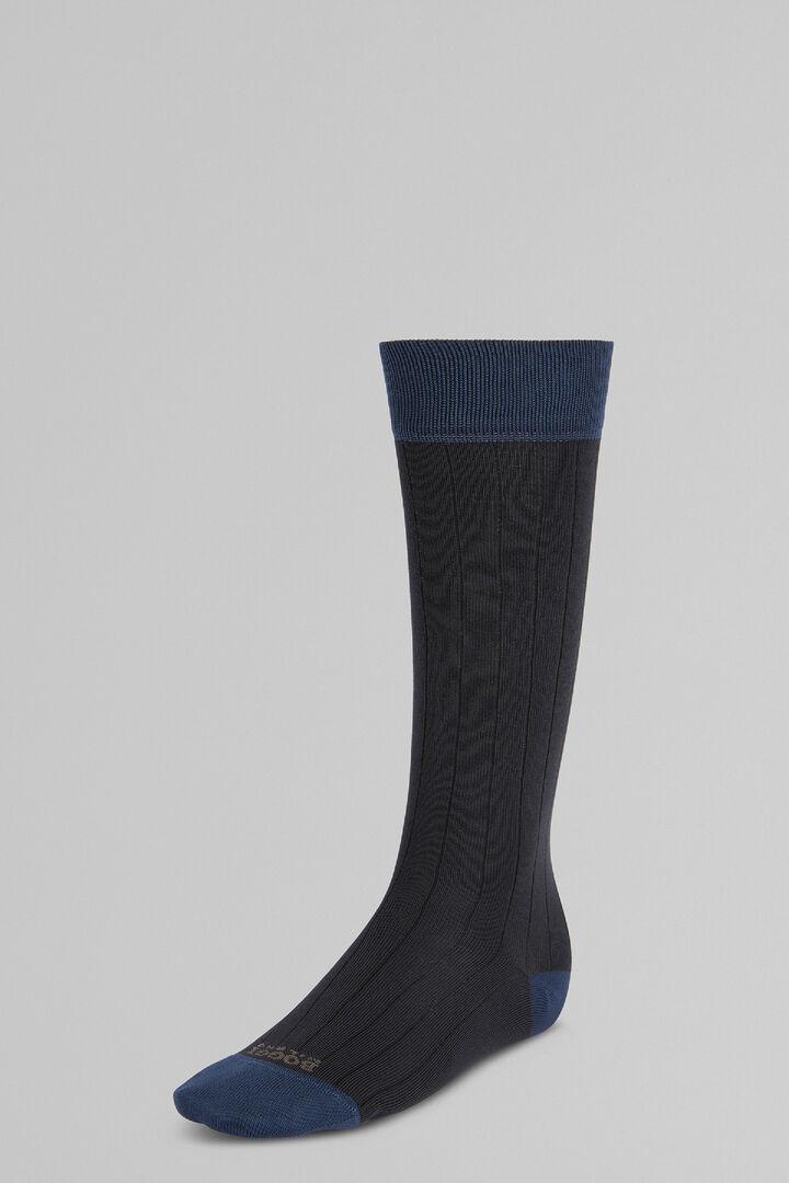 Ribbed Long Socks In High-Performance Yarn, Charcoal, hi-res