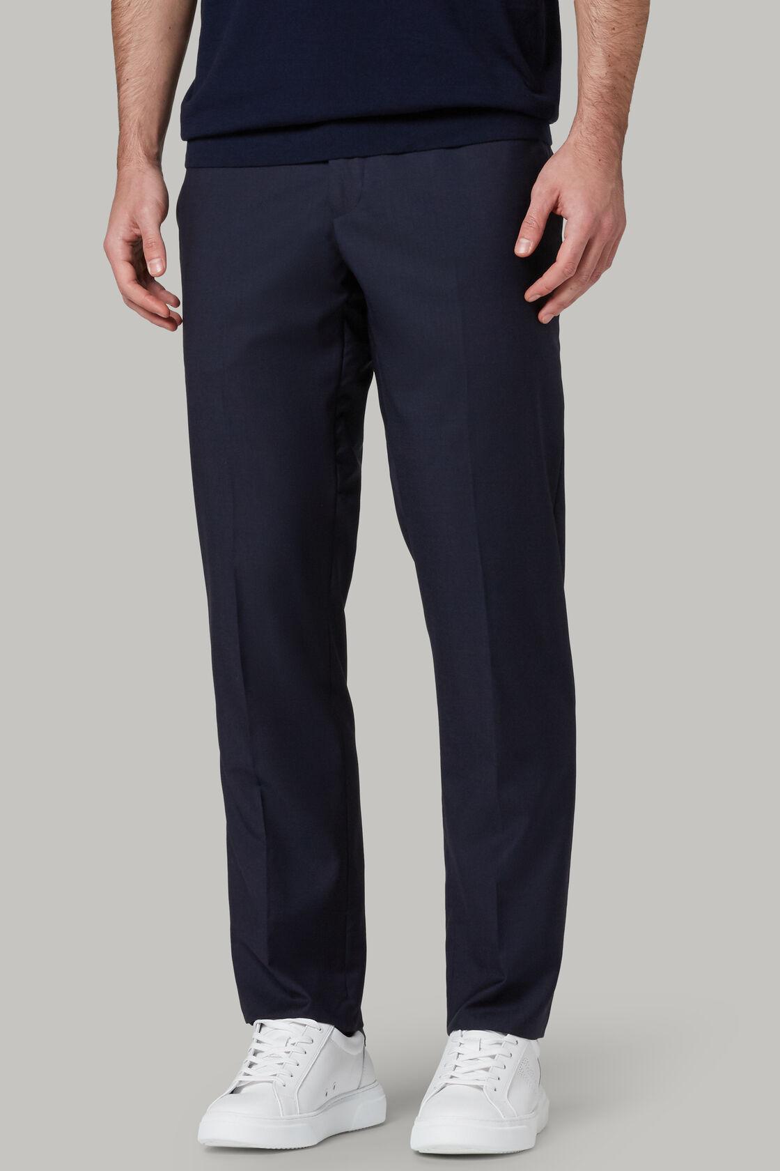 Pantalone Tinta Unita In Lana Super Leggera, , hi-res