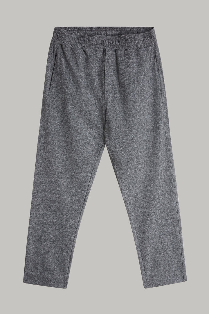 Pantalon En Nylon Extensible Avec Cordon De Serrage, Gris, hi-res