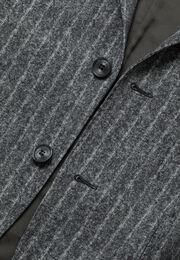 Graues nadelstreifensakko aus b tech-nylon, Grau, hi-res