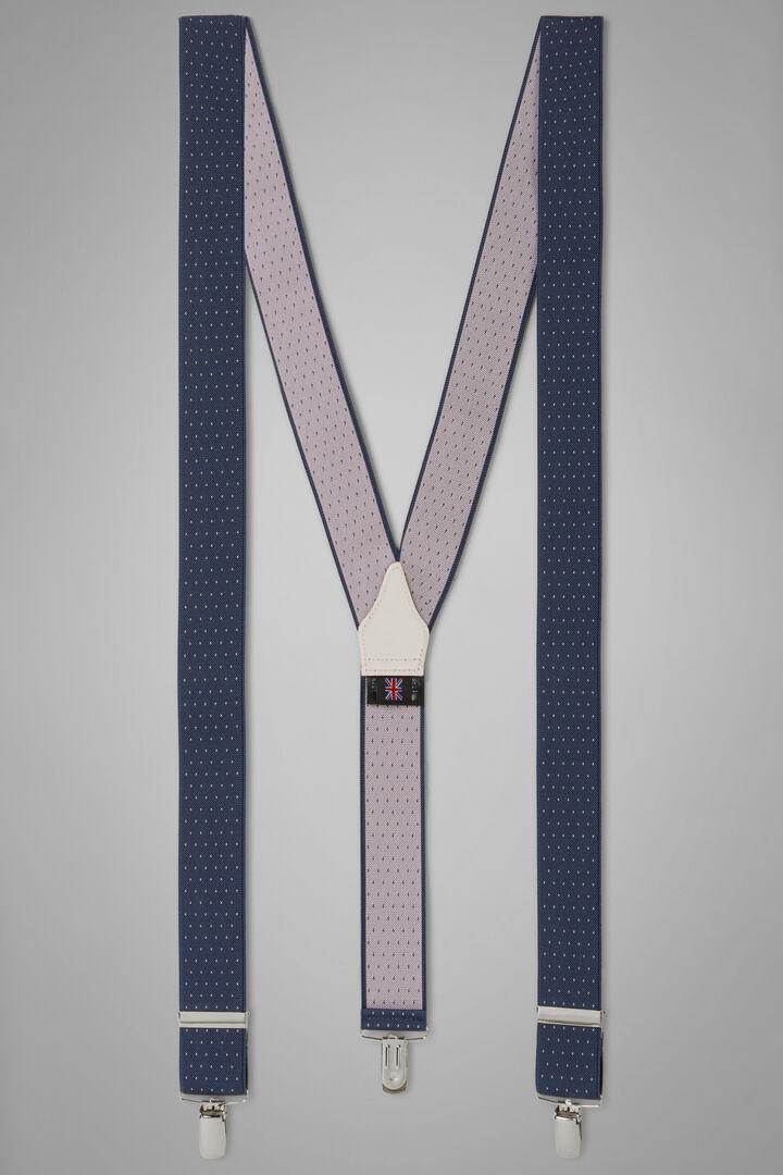Elastische Hosenträger Mit Punktemuster, Denim, hi-res