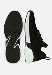 Schwarze socken-sneakers aus technischem stoff, Schwarz, hi-res