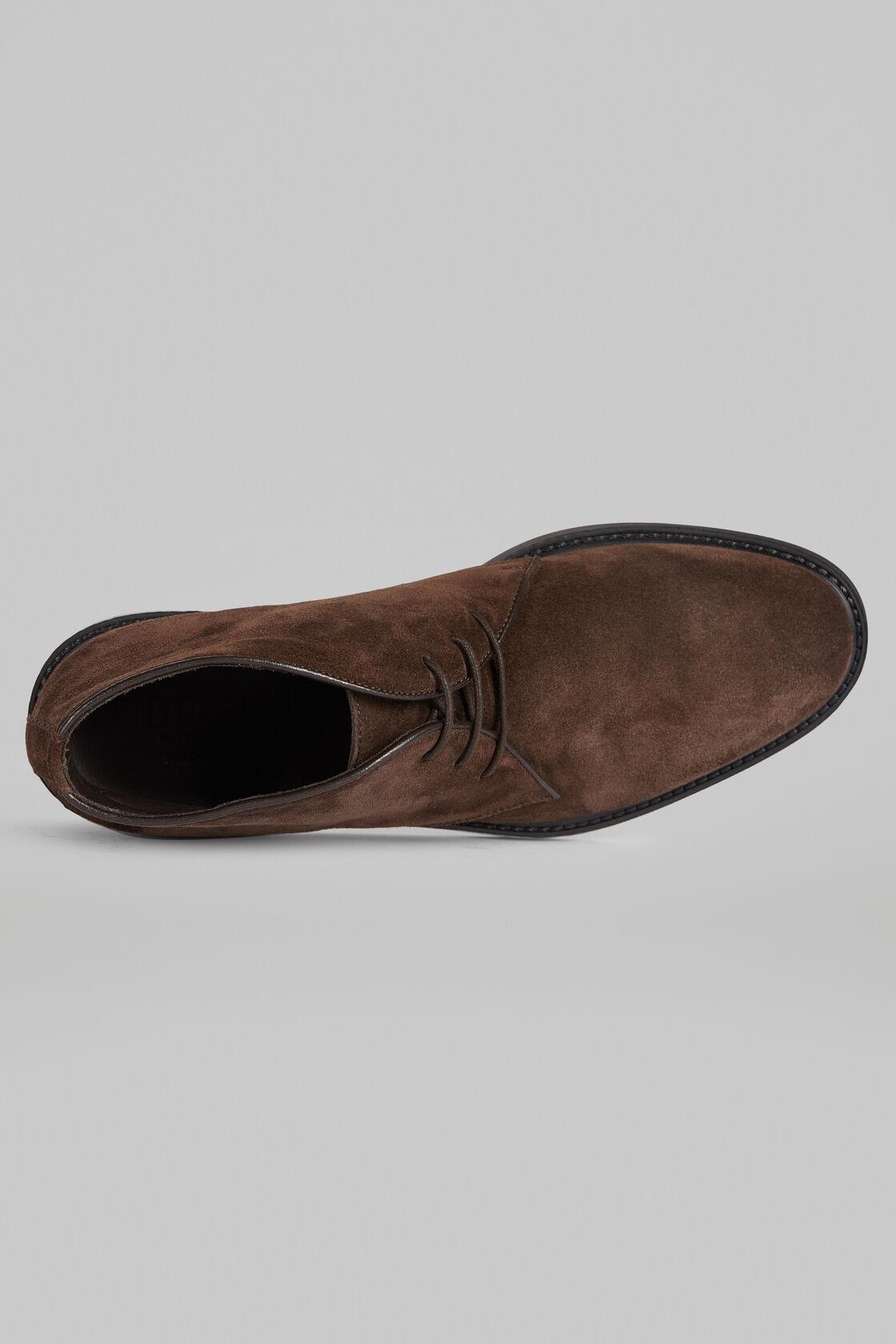 Chaussures À Lacet En Daim, Marron foncé, hi-res