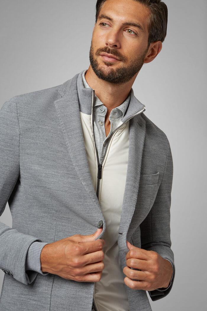 Grey Wool Jersey Bari Blazer, , hi-res