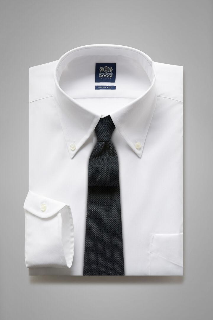 Camicia Bianca Collo Boston Regular Fit, Bianco, hi-res