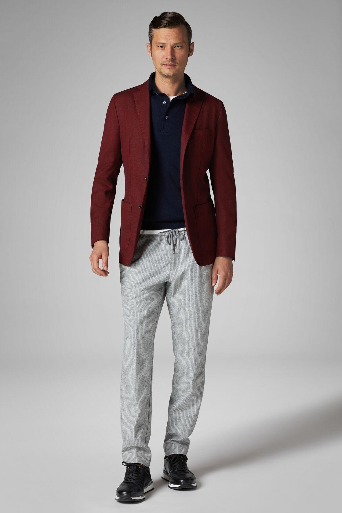 Burgundy Wool Blend Brescia Blazer, Burgundy, hi-res