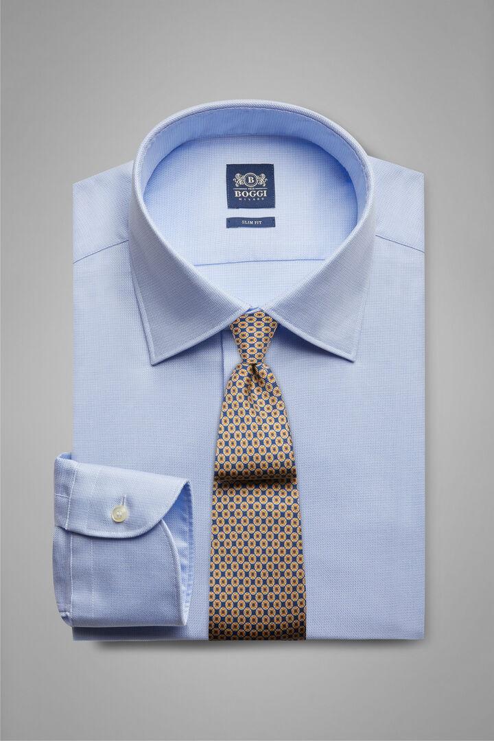 Camicia Azzurra Collo New York Slim Fit, Azzurro, hi-res
