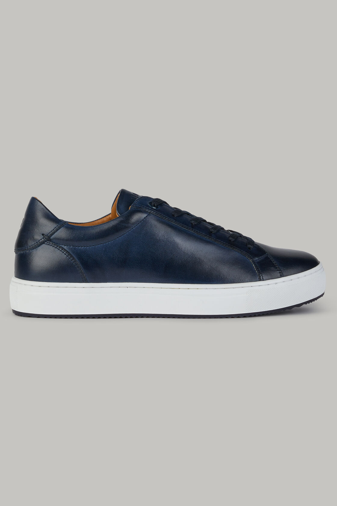 Sneakers navy in pelle, , hi-res