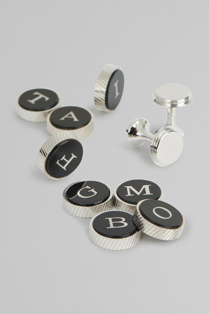 Cufflink Base Section & Letters, , hi-res