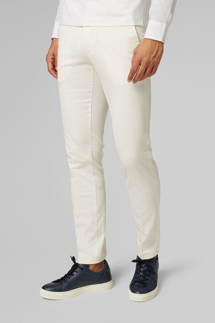 PANTALON EN COTON GROS GRAIN STRETCH COUPE SLIM , , hi-res