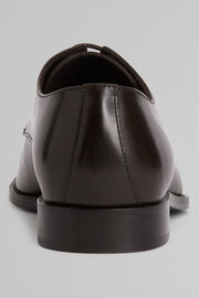 Smooth Leather Derby Shoes With Leather Soles, Dark brown, hi-res