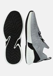 Graue socken-sneakers aus technischem stoff, Grau, hi-res