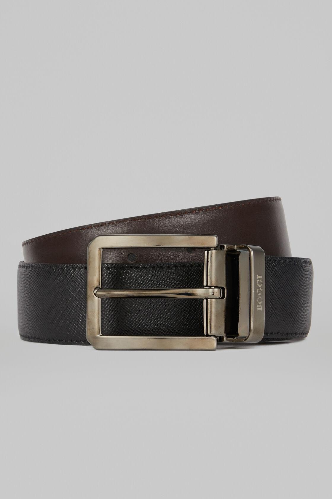 2ad39b075b Reversible Printed Saffiano Leather Belt