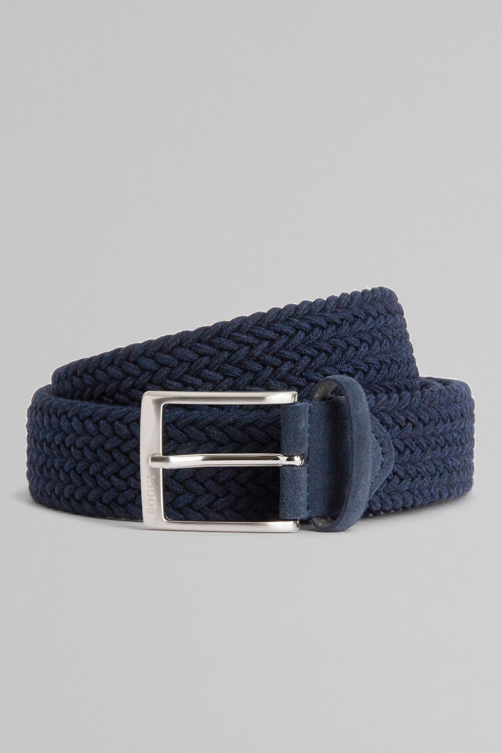 Woven Elasticated Belt, Navy blue, hi-res