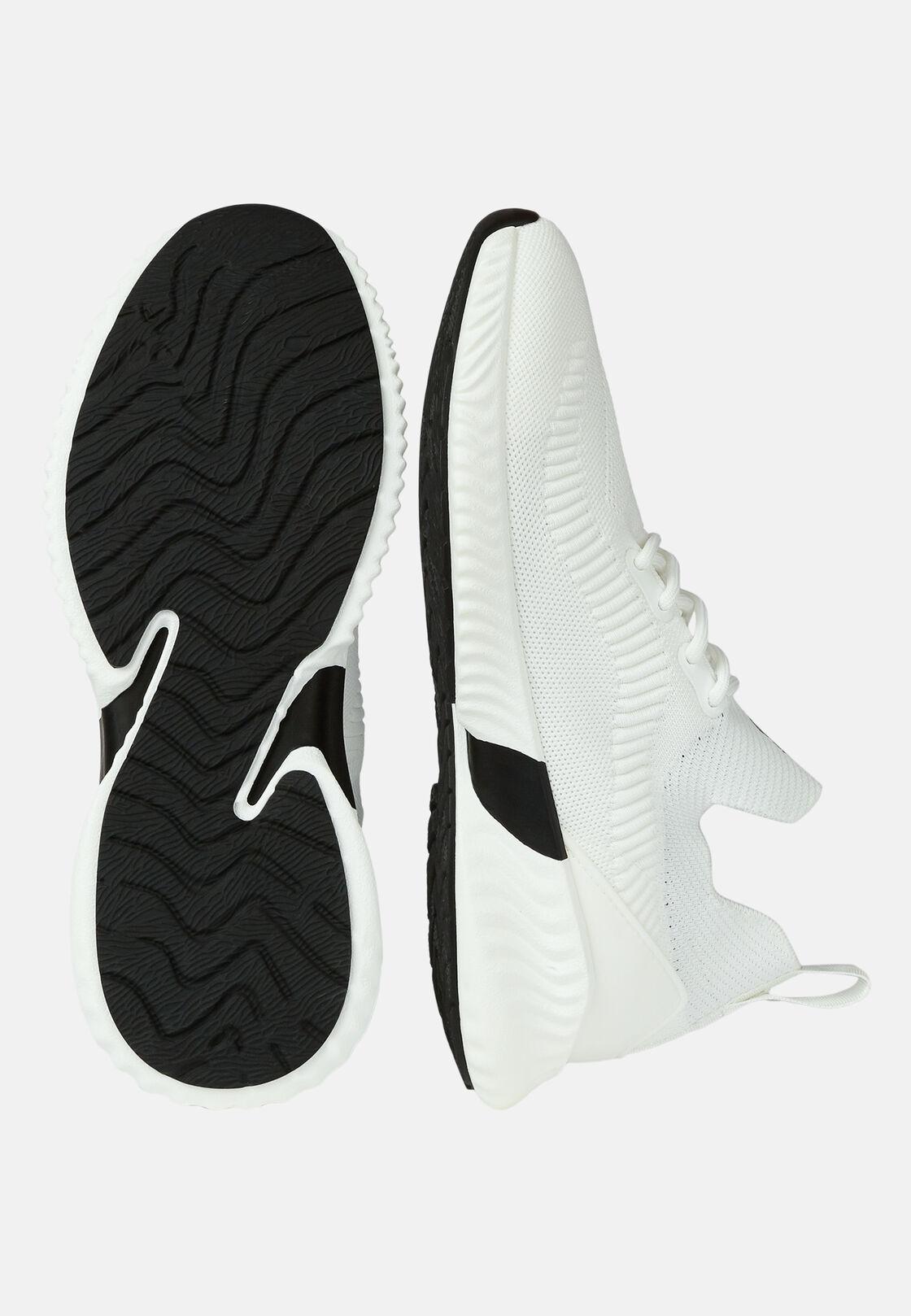 Weisse socken-sneakers aus technischem stoff, Weiß, hi-res