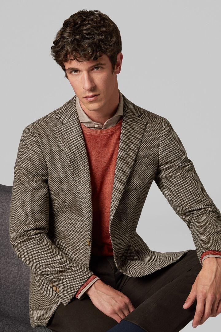 Blazer Naturfarbe Mantova Aus Wolle, Natürlich, hi-res