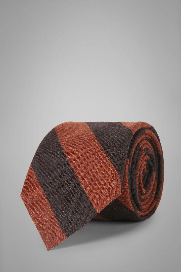 Gemusterte Krawatte Aus Seide Mit Musterdruck, Brown - Orange, hi-res
