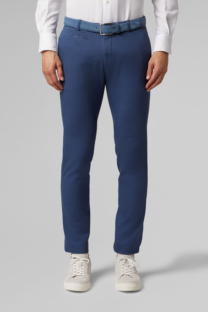 PANTALONE IN COTONE BULL STRETCH SLIM FIT, , hi-res