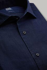 Dunkelblaues denim-hemd regular fit, Dark Denim, hi-res