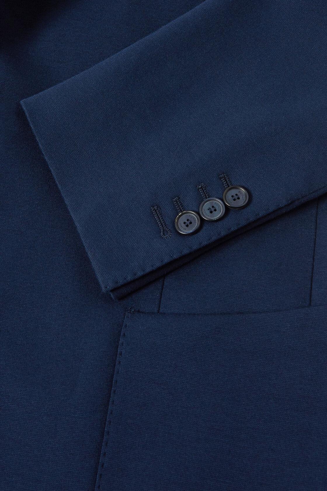 BLUE COTTON JERSEY COMO BLAZER, BLUE, hi-res