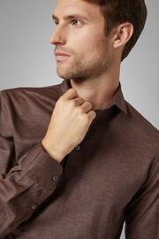 Slim Fit Merino Jersey Polo Shirt, Brown, hi-res