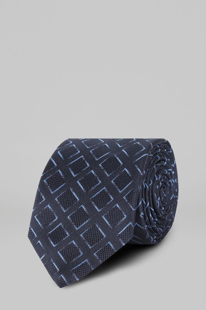 Cravate À Motifs En Soie Jacquard, Bleu - bleu clair, hi-res