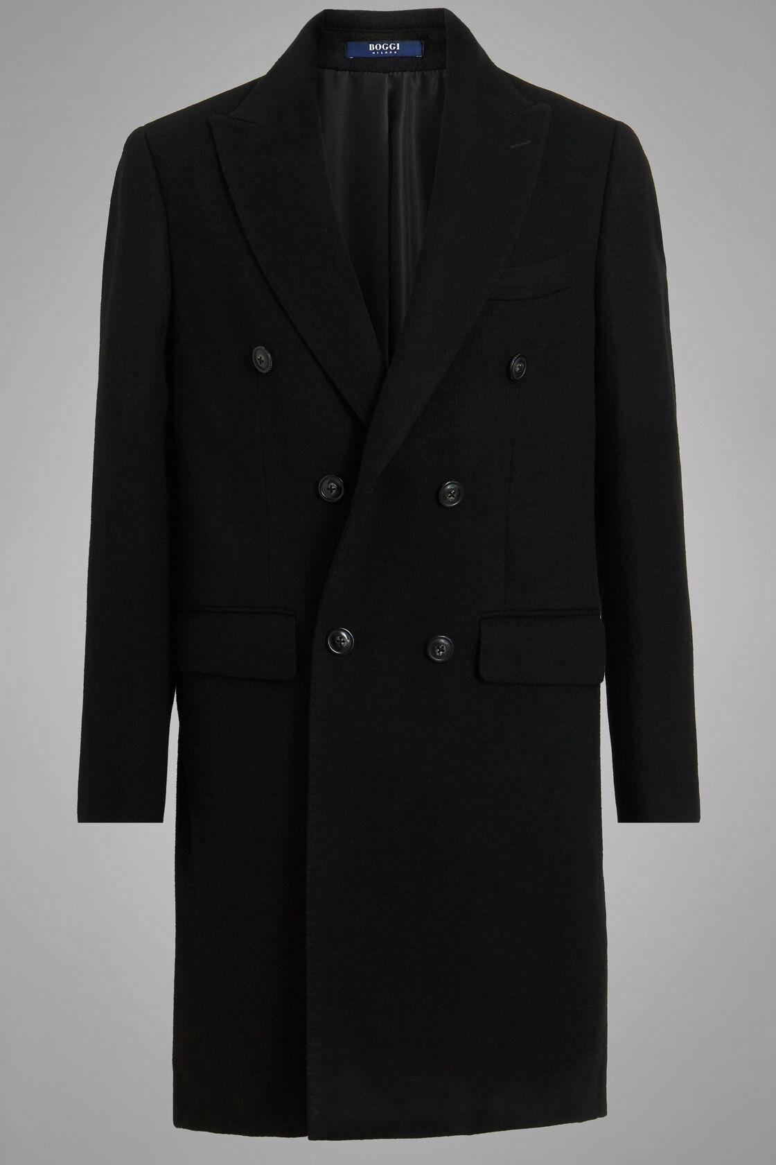 Manteau Croisé Long, Noir, hi-res