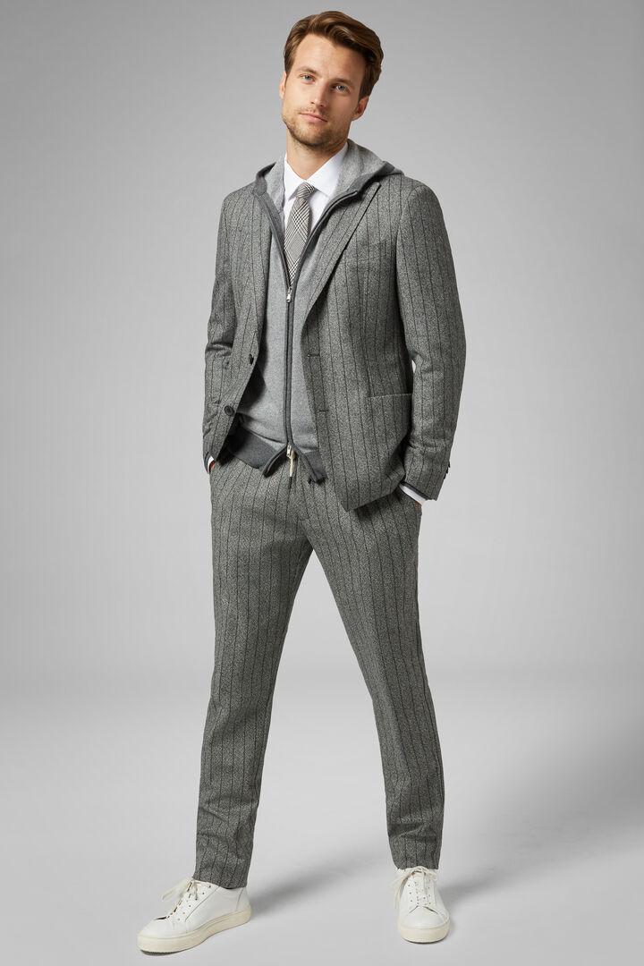 Grey Wool Mantova Suit Jacket, Grey, hi-res