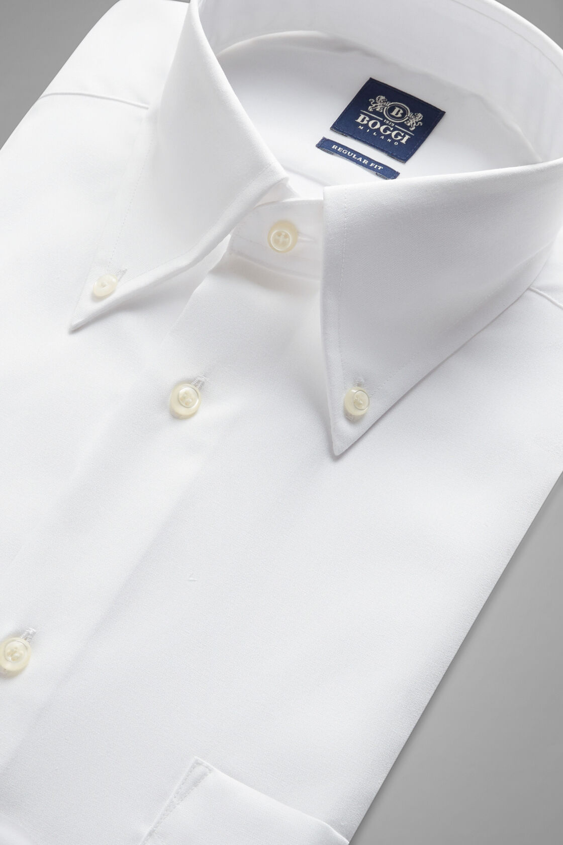 Weisses reguläres nadelspitzenhemd aus baumwolle, Weiß, hi-res