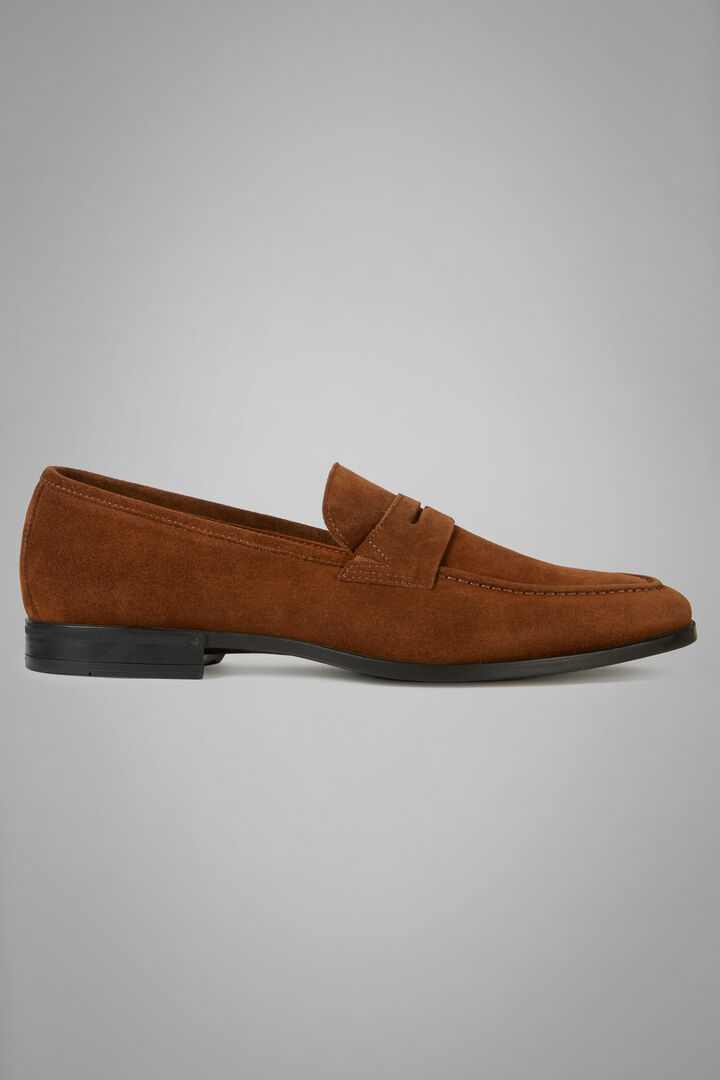 Suede Loafers, Leather brown, hi-res