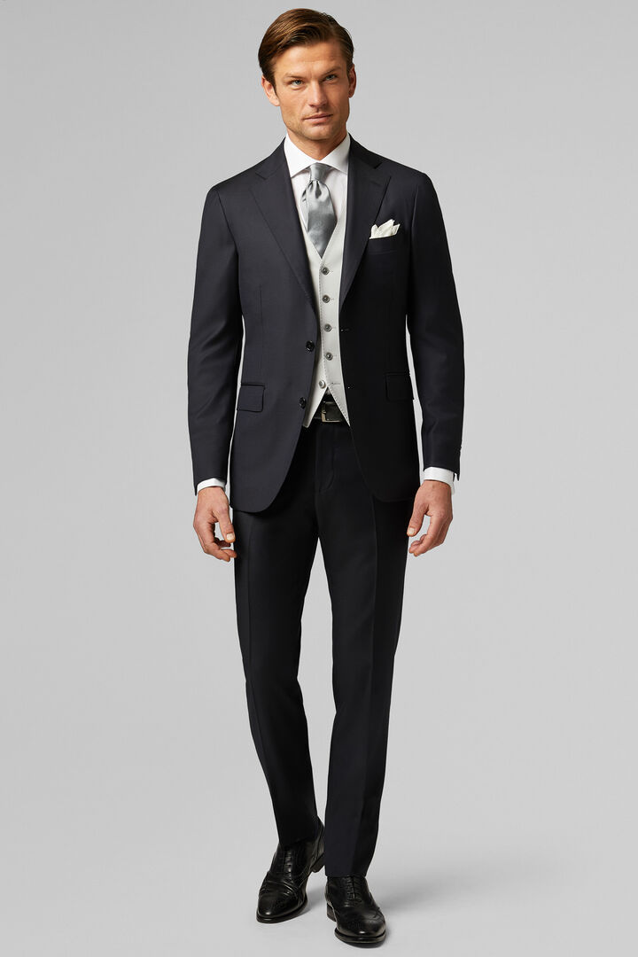 Blue Four-Season Wool Napoli Suit, Blue, hi-res