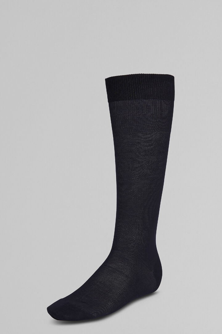Stockinet Long Socks, Blue, hi-res