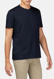 T-shirt in jersey di cotone pima, Navy, hi-res