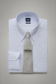 Hemd Mit Azurblauen Streifen Und Boston-Kragen Regular Fit, Hellblau, hi-res