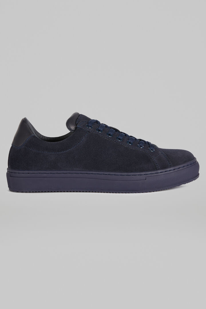 Sneakers In Pelle Scamosciata, Navy, hi-res