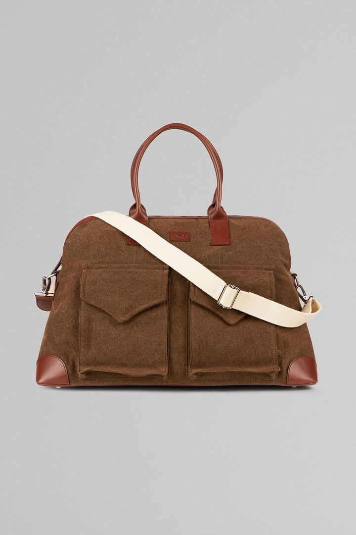 Canvas Mare Holdall, Brown - Leather brown, hi-res